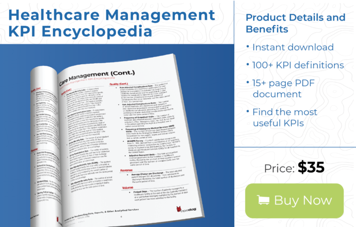 Over 100 healthcare metrics for management available for instant download