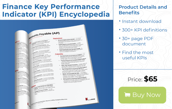 finance department kpi examples available for instant download
