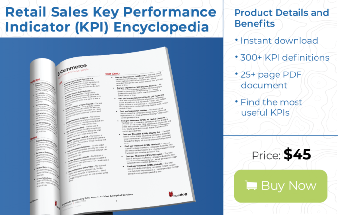 A guide for retail field metrics with over 300 key performance indicators